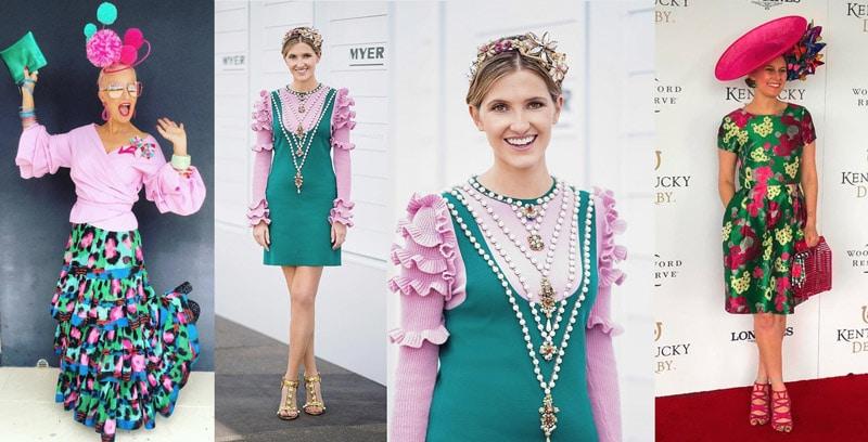 race dresses colourful
