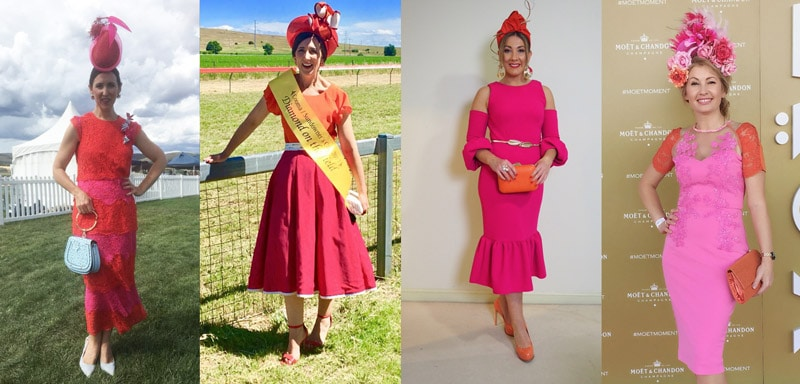 popular colour for race dresses