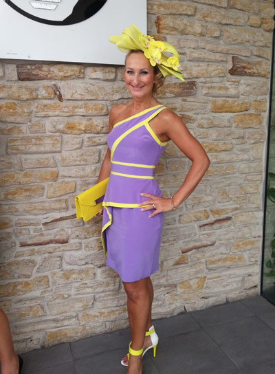 purple outfit for races