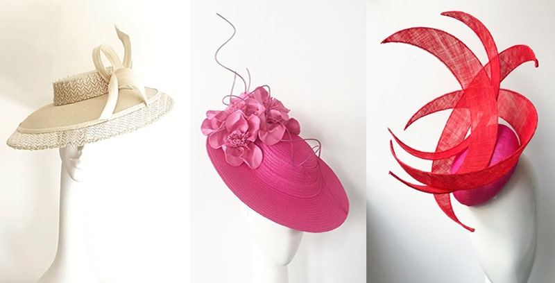 Straw sinamay hats for summer
