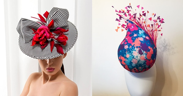 Fabric covered hats