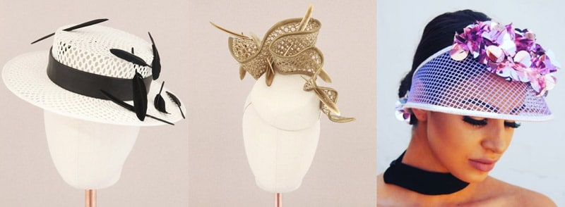 designer hats made with mesh