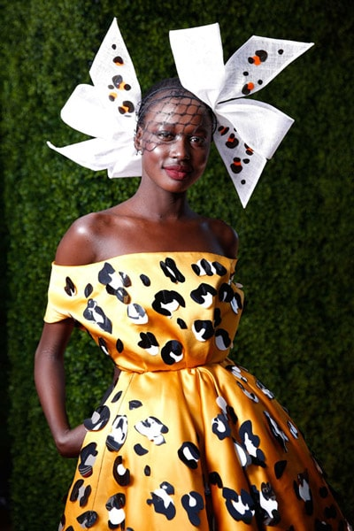 sense of joy abudance dots spots orange race dress