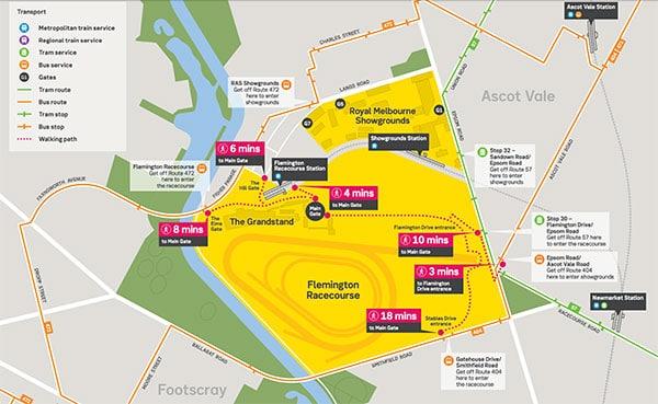 flemington racecourse entry gates