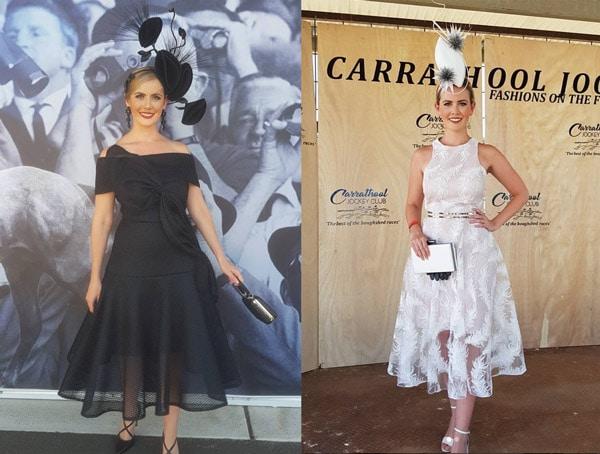 sheer transparent race dresses derby black white