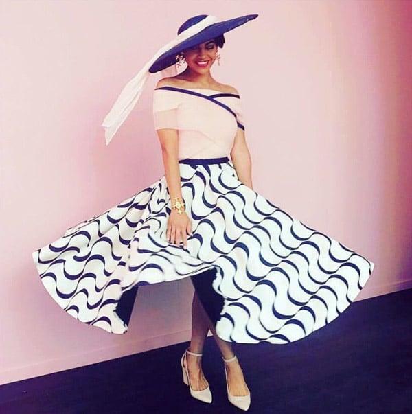curvy print skirt joy