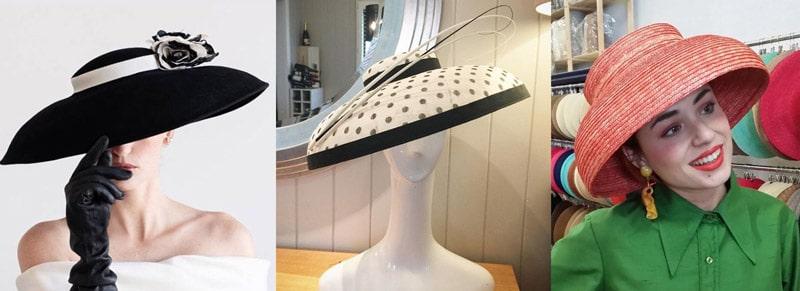 dior brim / mushroom hat shape