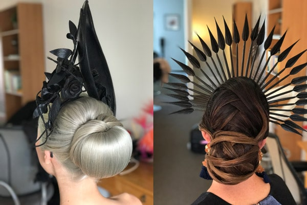 races hairstyle updo