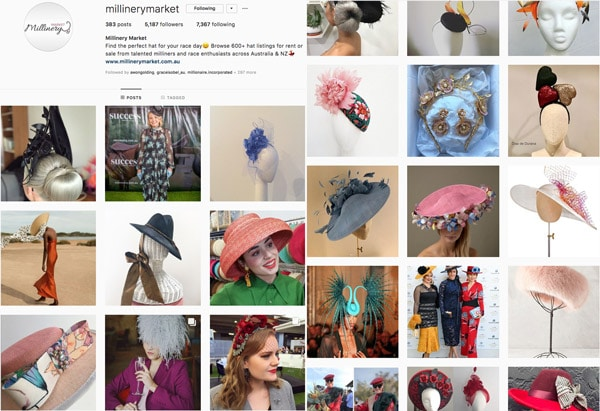 millinery market instagram feed
