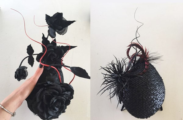 embellishing a hat