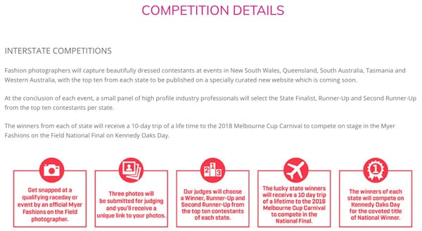 Myer Photo Competition details