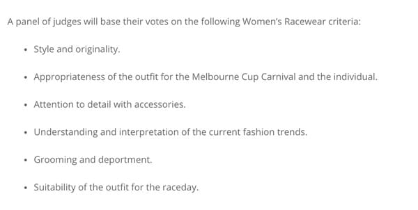 Fashions on the field rules for style and originality
