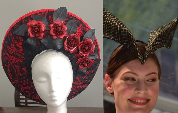 7fc7b0c429b milliner directory red black breton winged hat. 1) Millinery Training