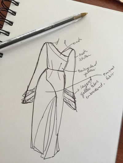 kimono sleeves sketch creative block