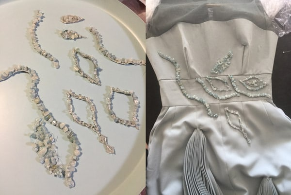 silk embroidery pattern beads embellishment