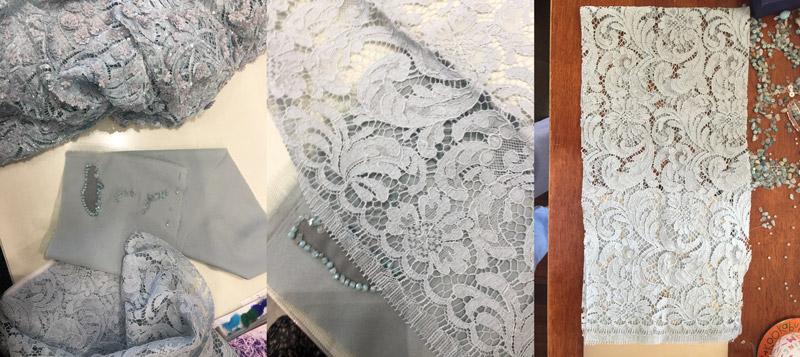 blue lace diy race dress custom design