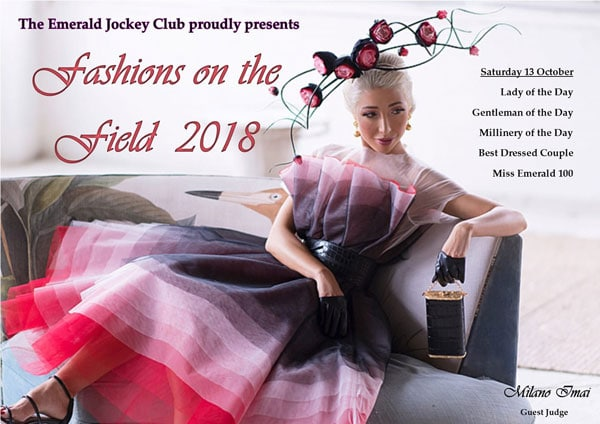 Fashion on the Field 2018, Emerald 100 Race day judging, racewear, trends, dress, outfit, racing fashion, Milano Imai, fashion blogger