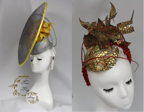 metallic headpiece silver