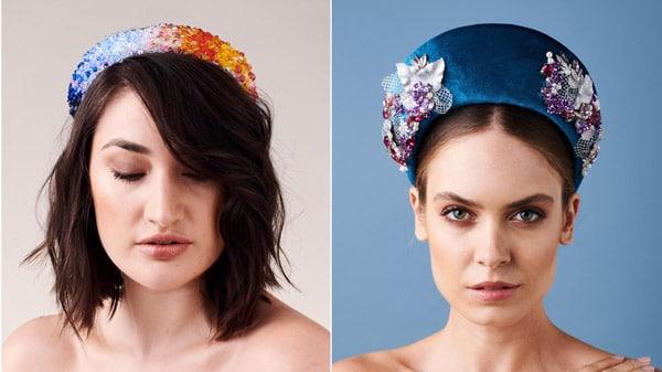 headband halo blue colourful fascinator