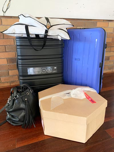 luggage suitcase hatbox travelling to melbourne cup week