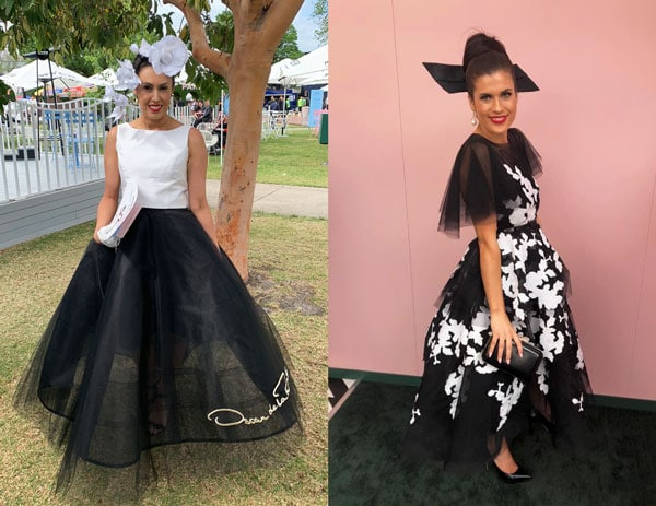 derby day 2018 outfits tulle black white sheer