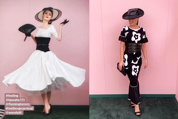 2018 derby day glamour black white dresses