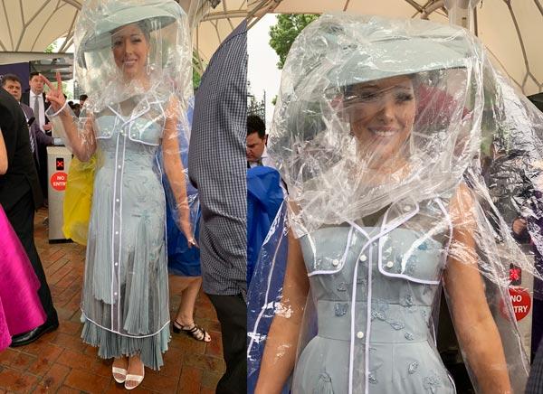 transparent raincoat trenchcoat rain protection races