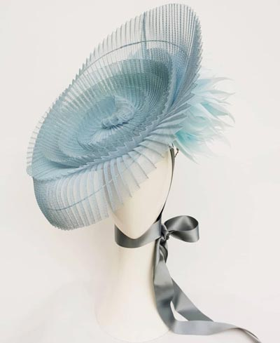 peacock millinery blue fascinator