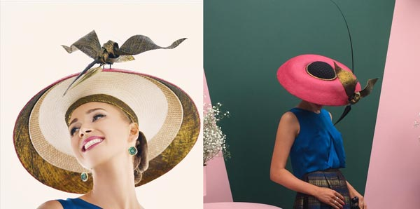 louise macdonald myer millinery award pink dior hat