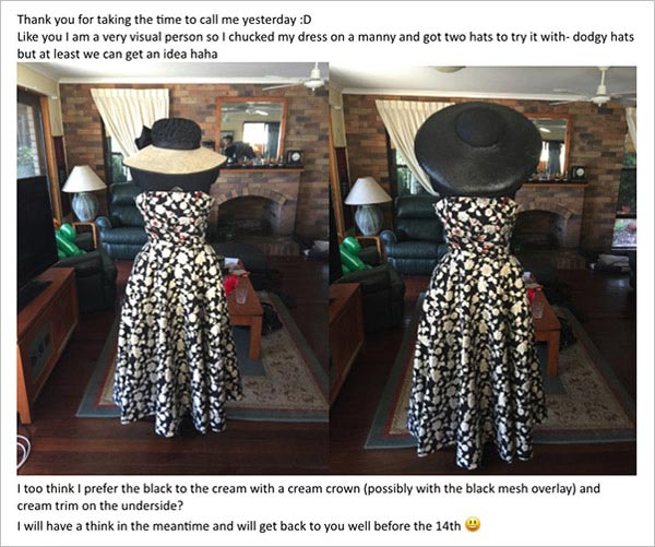 millinery design process communicating with milliner hat maker
