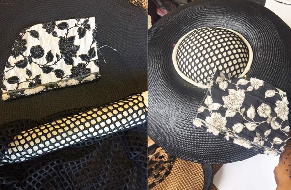 louise macdonald hat black white derby day in progress
