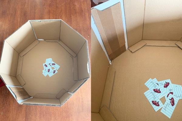 reinforced cardboard hat box