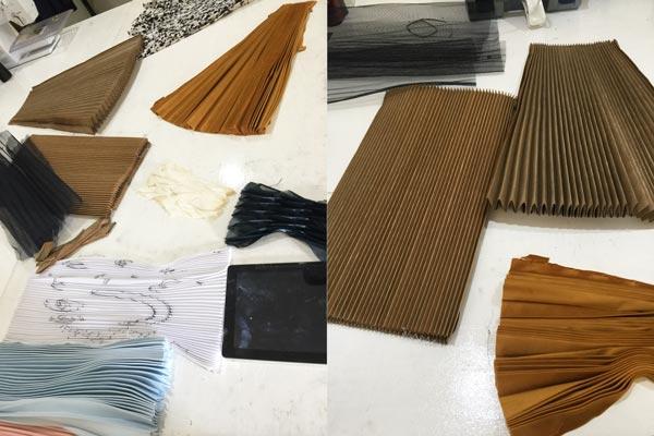 homemade pleated fabric pleat cardboard template