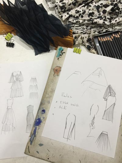 silhouettes and fashion design sketches
