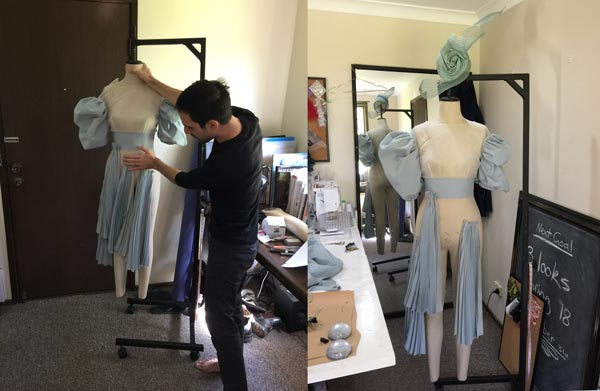 pleated tulle bodice feature racing fashion outfit design