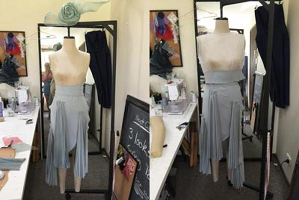 dress design on mannequin