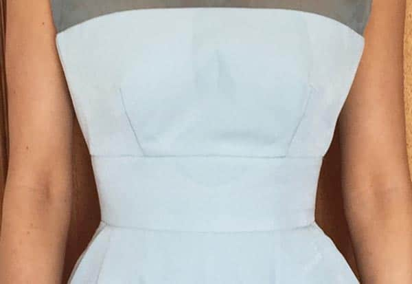 drink stain down front of dress