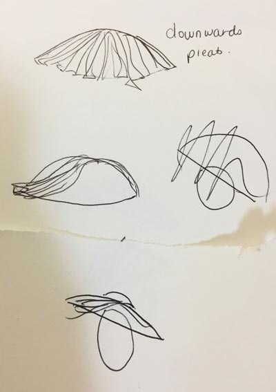 simple millinery sketch