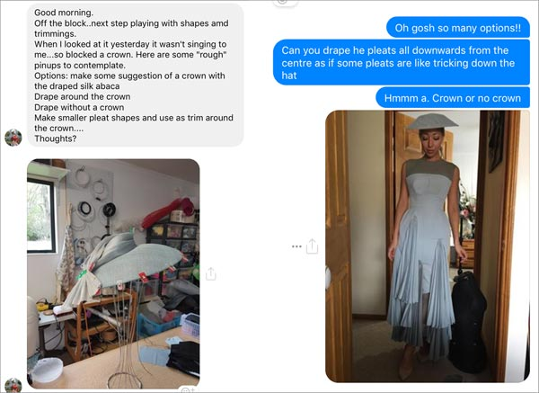 working and collaborating with a milliner