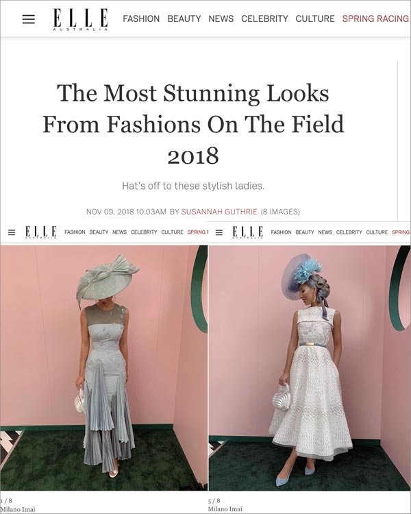 elle most stunning looks from fashions on the field 2018 milano imai