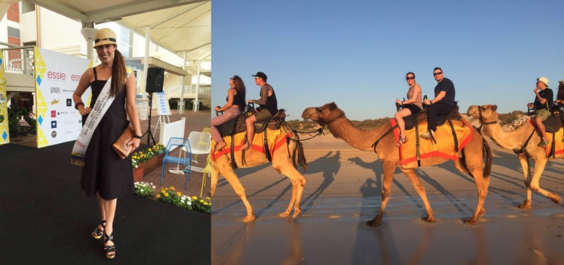 competition sash camel ride on beach
