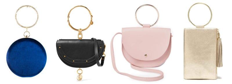 ring bag trend blue black pink gold