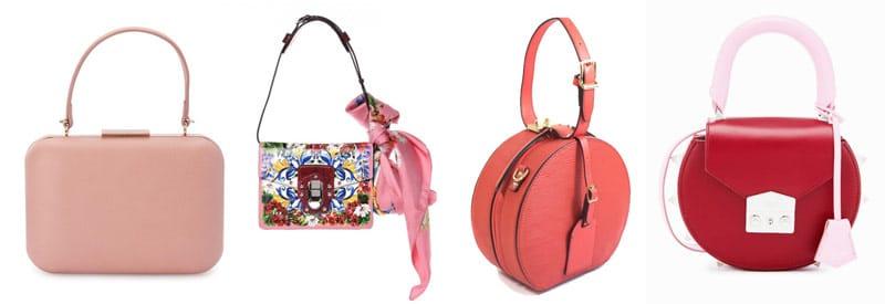 top handle bag trend pink bags