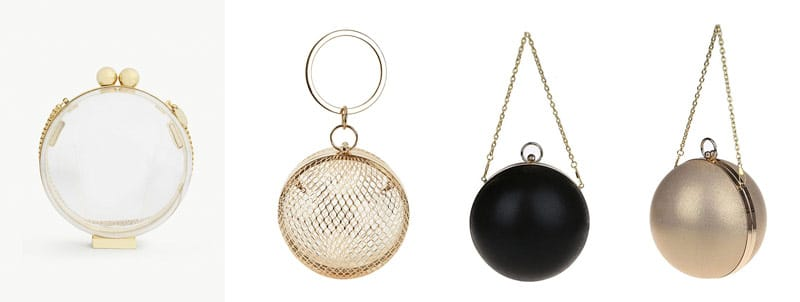 sphere clutches spherical shaped bag