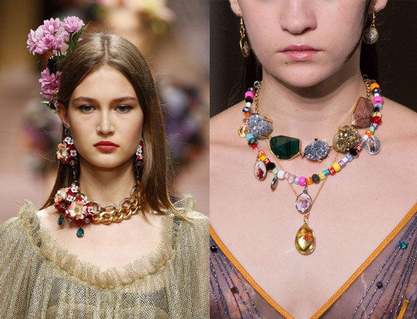statement necklace emerging 2019 trend