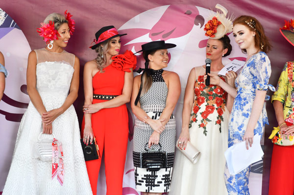 racing fashion ladies on stage