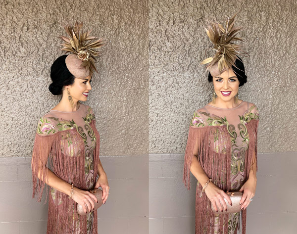 rose gold tassels race dress fashion girls day out