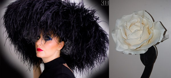black ostrich feather hat