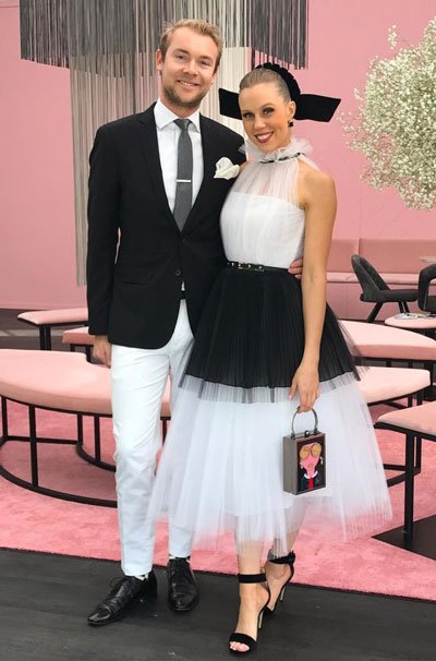 black and white tulle dress for derby day