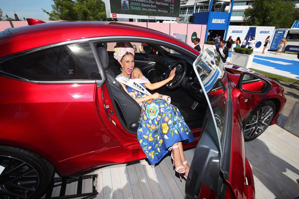 crystal kimber and red lexus car prize